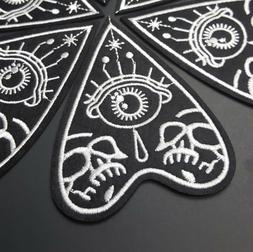 Planchette Iron-On Applique Patch, Black & White Ouija Goth
