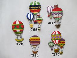 Rainbow Color Hot-Air Balloon Embroidery Iron On Applique Pa
