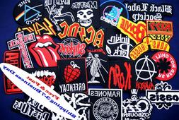 RANDOM 10 pcs Lot Iron On Patch Patches Band Music Rock N Ro