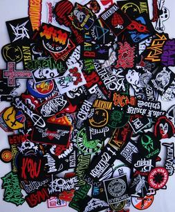 Random Lot of 20 Rock Band Patches Iron on Music Punk Roll H