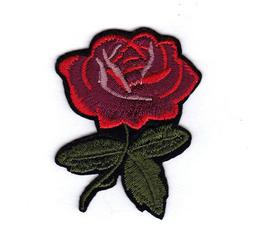 "RED ROSE Iron On Patch 2 1/2"" Flowers Rose Buds Roses"