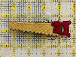 Red Saw/Tools - Iron on Applique/Embroidered Patch