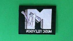 RETRO MTV MUSIC TELEVISION IRON ON PATCH NEW ROCK METAL POP