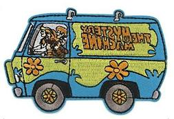 Scooby Doo Mystery Machine With Gang Embroidered Iron on Pat