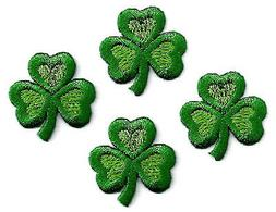 SHAMROCK LOVE - Irish - Embroidered Iron On Applique Patches