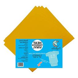 """12"""" x 9.8"""" Sheets of Craftables Golden Yellow Heat Transfer"""