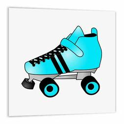 3dRose Skating Gifts - Blue and Black Roller Skate, Iron On