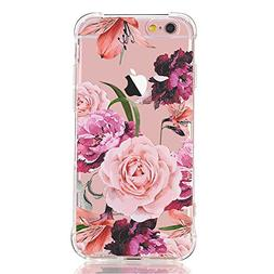 LUOLNH Slim Shockproof Clear Floral Pattern Soft Flexible TP
