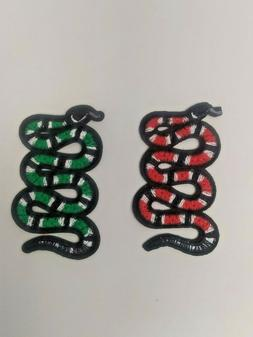 Small Snake Iron On Patches  gucci style 3 Color Combos USA