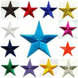STAR- IRON ON APPLIQUE select size and color
