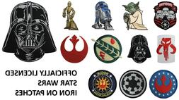 Star Wars Iron On Embroidered Patches - Officially Licensed