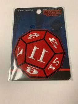 Stranger Things 11 D&D Dice Iron-On Patch by Loungefly