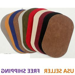 Suede Leather Iron-on Oval Elbow Knee Patches DIY Repair Sew