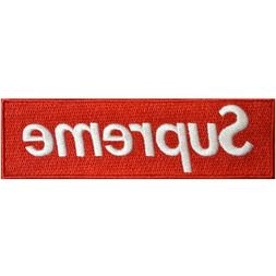 Supreme Patch Embroidered DIY Iron-On 5x1.5 inches