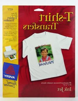 Avery T-shirt Transfer Sheets for Ink Jet Printers, 8 1/2' x