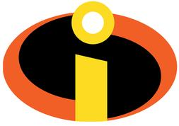 The Incredibles Logo Iron On Transfer Light or Dark Fabrics