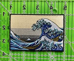 The Kanagawa Wave Iron on/Sew on Patch, Japanese Wave Patch,
