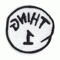 Thing 1 Thing 2  DIY Iron On Embroidered Applique Patch