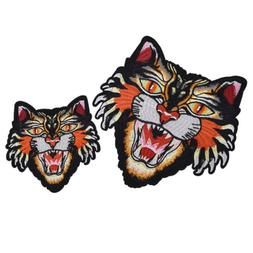 Tiger Iron On Sew on Embroidery Patch Applique Badge DIY Clo