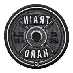 Train Hard 45 lb Barbell Weight Patch, Fitness Patches