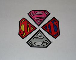 "Tri-Color ""Superman"" Iron-On Embroidered Patch- 2 SIZES & MA"
