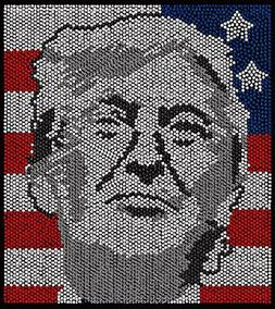 """Trump rhinestone iron on transfers for t shirts """"Over 7000 R"""