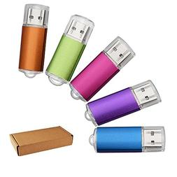 JUANWE 5 Pack 8GB USB Flash Drive USB 2.0 Thumb Drives Jump