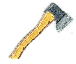WOOD AXE Iron on Patch Tools Carpenter Construction
