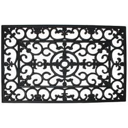 Wrought Iron Welcome Doormat, 18 W x 30 L x 0.5 D